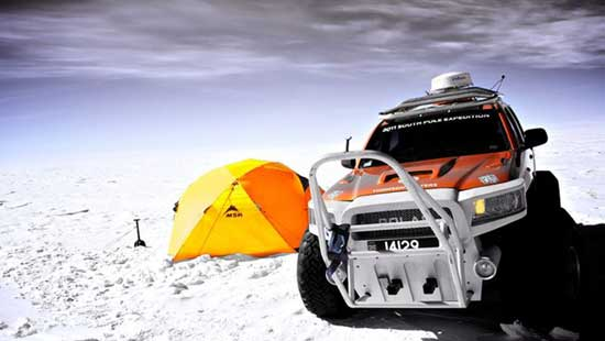Coche 'Polar' del Worlds toughest drive - Antarctic Race