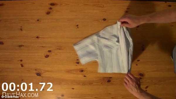 Crease un rayo increible c mo doblar una camisa en dos - Tabla doblar camisetas ...