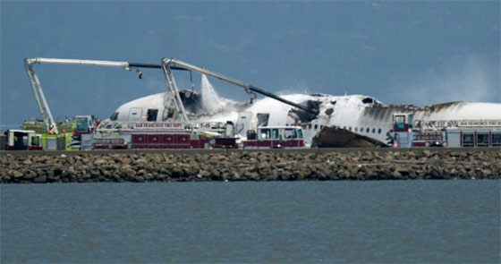 Accidente avión aeropuerto de San Francisco