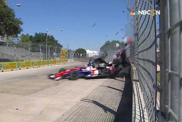 Accidente de Dario Franchitti en el Gran Premio de Houston