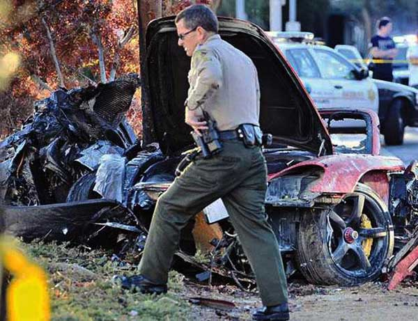 accidente de coche de Paul Walker
