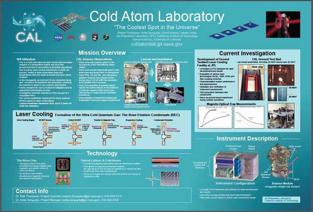 poster Cold Atom Lab de la NASA