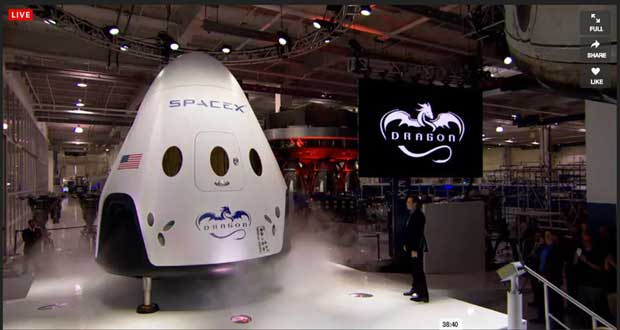 Dragon V2 de Spacex