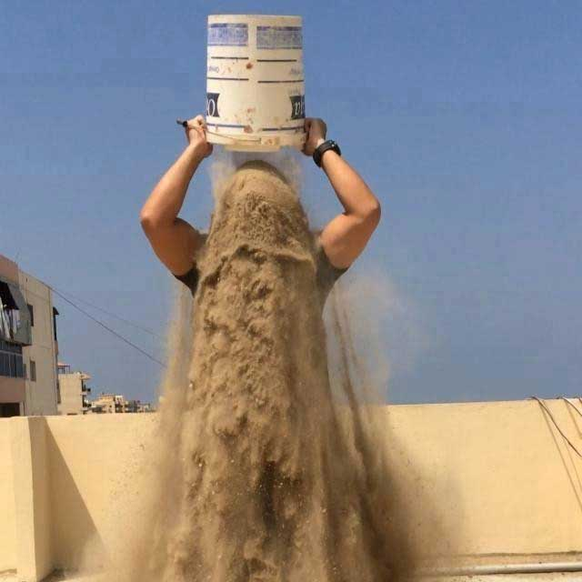 Rubble Bucket Challenge, escombros en Gaza