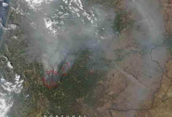 Incendios forestales en Portugal desde satélite