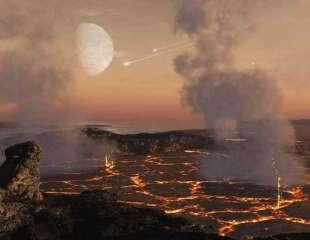 La Tierra primitiva fue bombardeada por una serie de asteroides del tamaño de una ciudad