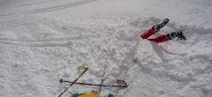 Esquiador rescata a una compañera de una muerte segura