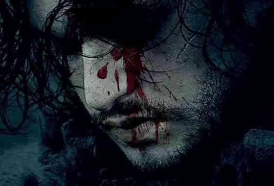 Juego de tronos temporada 6 teaser poster Jon Snow ensangrentado