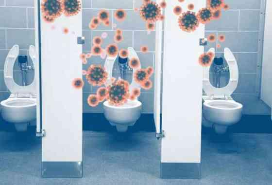 Un estudio repugnante muestra lo que sucede en el aire cuando se tira de la cadena de un baño público