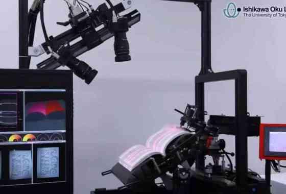 Dispositivo japonés escanea un libro por minuto