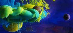 Hipnotizante vídeo de remolinos de tinta en agua