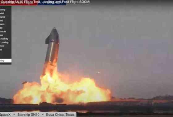 SpaceX aterriza por primera vez el prototipo de Starship, pero luego explota