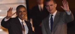 Llegada de Barack Obama a Madrid