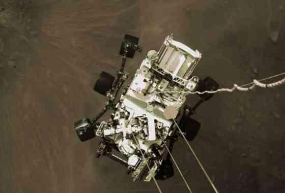 Descenso a Marte del rover Perseverance desde las cámaras de a bordo