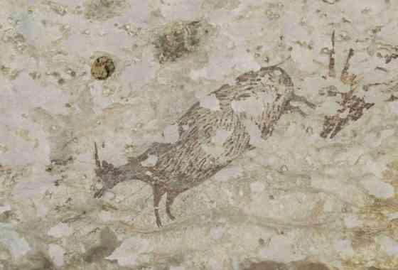 Obra de arte más antigua del mundo descubierta en una cueva de Indonesia