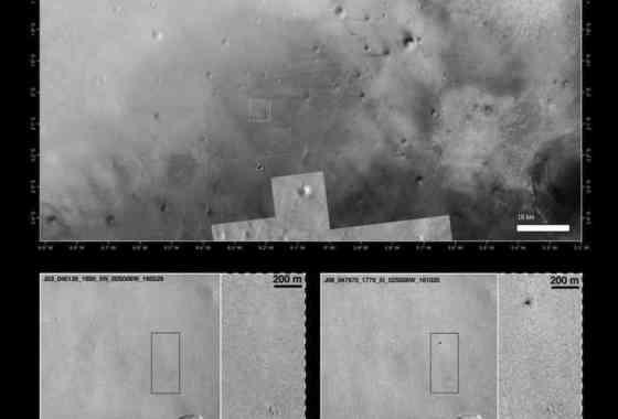 Identificado el lugar de impacto del lander Schiaparelli