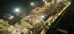Equipo de construcción chino derriba un barrio entero en sólo 10 segundos
