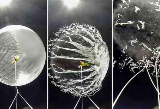 La explosiva desaparición de un globo meteorológico