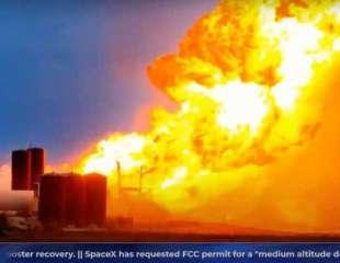 Prototipo de nave espacial de SpaceX estalla en una dramática bola de fuego durante las pruebas