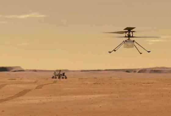 La NASA realiza con éxito el primer vuelo controlado en Marte